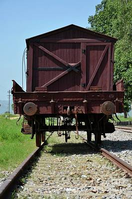 Photograph - Vintage Pakistan Railways Freight Car On Rails At Railway Museum Islamabad by Imran Ahmed