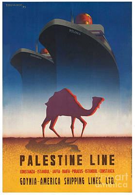 Photograph - Vintage Palestine Travel Poster 2 by George Pedro