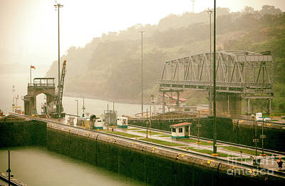 Photograph - Vintage Panama Canal by John Rizzuto