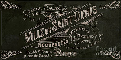 French Signs Painting - Vintage Paris Sign by Mindy Sommers