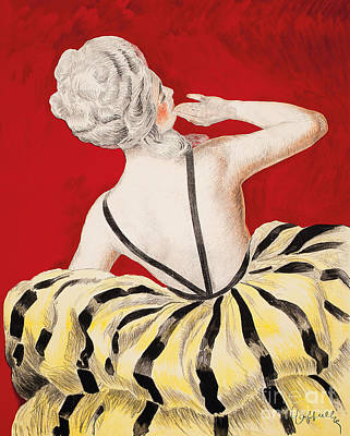Bare Shoulder Painting - Vintage Parisian Poster Detail by Leonetto Cappiello