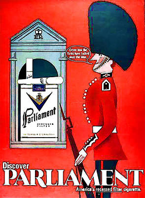 Digital Art - Vintage Parliament Cigarette Advertisement - Circa 1920's by Marlene Watson