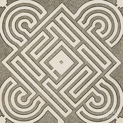 Vintage Parterr Plan Art Print