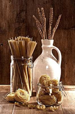 Dried Photograph - Vintage Pasta  by Amanda Elwell