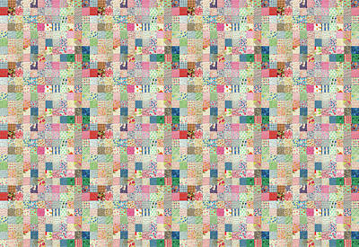 Photograph - Vintage Patchwork Quilt by Peggy Collins