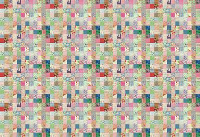 Photograph - Vintage Patchwork Quilt by Peggy Collins