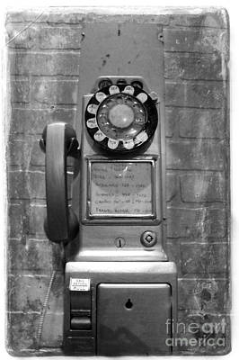 Photograph - Vintage Pay Phone by Nina Silver