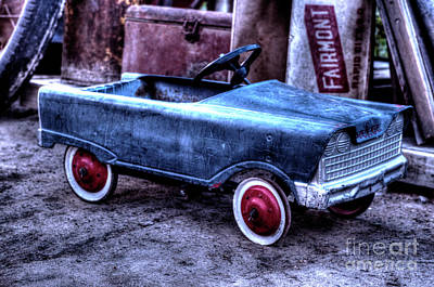 Photograph - Vintage Pedal Car by Jim And Emily Bush