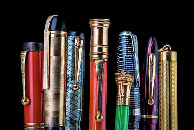 Photograph - Vintage Pen Collection by Tom Mc Nemar