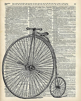 Transportation Mixed Media - Vintage Penny Farthing Bicycle by Jacob Kuch