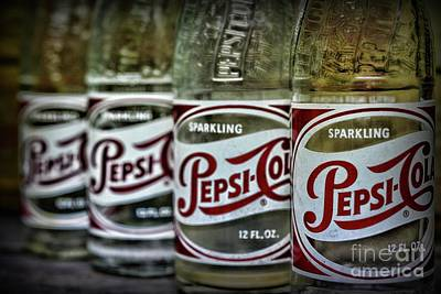Photograph - Vintage Pepsi Bottle Collection by Paul Ward