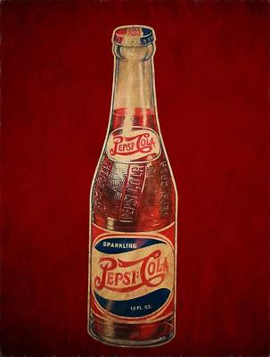Digital Art - Vintage Pepsi Bottle by Dan Sproul