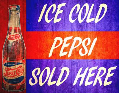 Digital Art - Vintage Pepsi Cola Barn Door by Dan Sproul