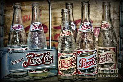 Photograph - Vintage Pepsi Metal Carrier by Paul Ward