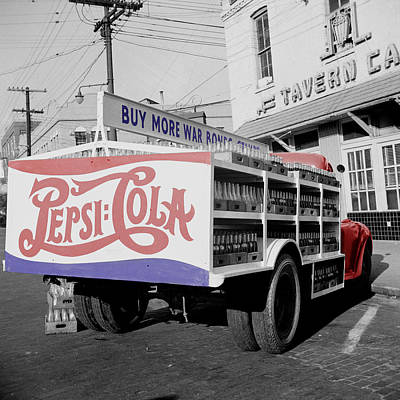 Transportation Royalty-Free and Rights-Managed Images - Vintage Pepsi Truck by Andrew Fare