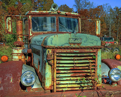 Photograph - Vintage Peterbilt Truck by Jerry Gammon