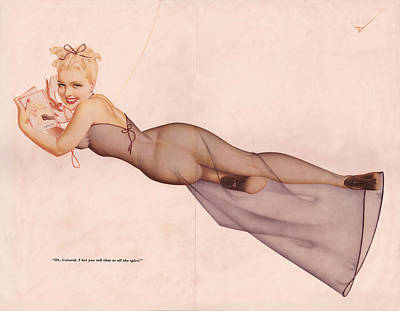 Digital Art - Vintage Petty Girl Centerfold # 1 by Beverly Stapleton