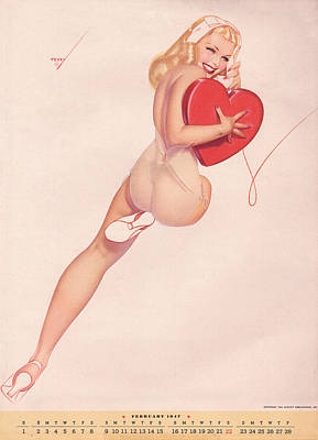 Digital Art - Vintage Petty Girl Pin Up # 2 by Beverly Stapleton