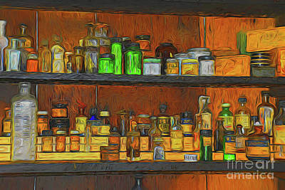 Photograph - Vintage Pharmacy 10418 by Ray Shrewsberry