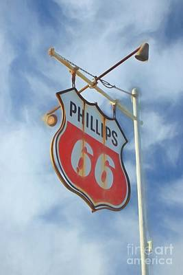 Photograph - Vintage Phillips 66 Sign by Benanne Stiens