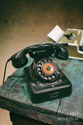 Disc Photograph - Vintage Phone by Carlos Caetano