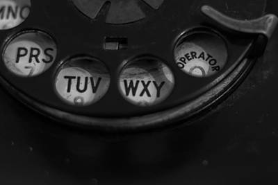 Photograph - Vintage Phone Dial O by Terry DeLuco