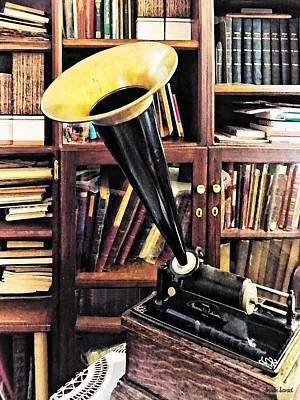 Photograph - Vintage Phonograph In Library Circa 1880 by Susan Savad