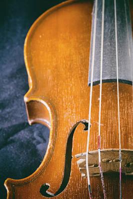 Photograph - Vintage Photo Of Old Violin. Vertically.  by Jaroslav Frank