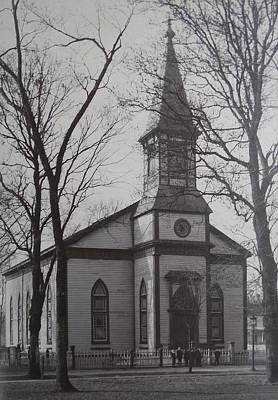 Photograph - Vintage Photograph 1902 Old Church New Bern Nc by Unknown