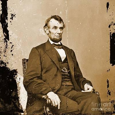 Vintage Photograph Of Abraham Lincoln Original by John Malone