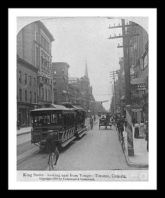 Telephone Poles Mixed Media - Vintage Photograph Of King Street In Toronto Ontario Canada by Pd
