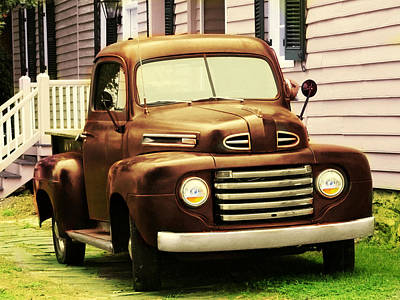 Photograph - Vintage Pick Up Truck by Digital Art Cafe