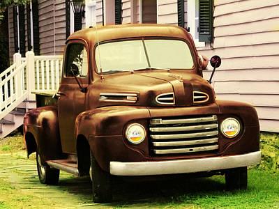 Vintage Pick Up Truck Art Print