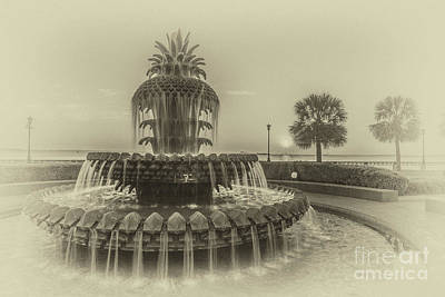 Photograph - Vintage Pineapple Fountain by Dale Powell