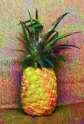 Digital Art - Vintage Pineapple by Karen Nicholson