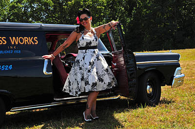 Photograph - Vintage Pinup And Auto by Mike Martin