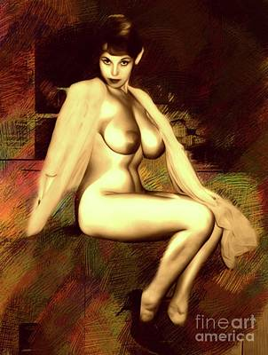 Sex Digital Art - Vintage Pinup By Mb by Mary Bassett