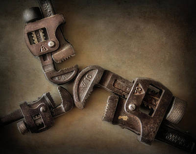 Photograph - Vintage Pipe Wrenches by David and Carol Kelly