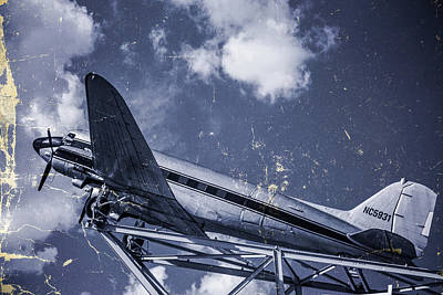 Photograph - Vintage Plane Blues by Steven Bateson