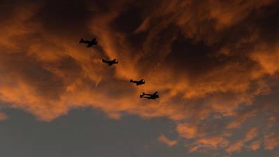 Photograph - Vintage Plane Sunset Madras Oregon by Lawrence S Richardson Jr
