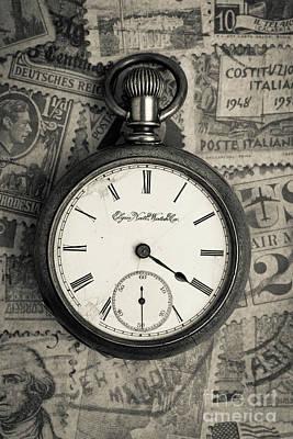 Vintage Pocket Watch Art Print by Edward Fielding