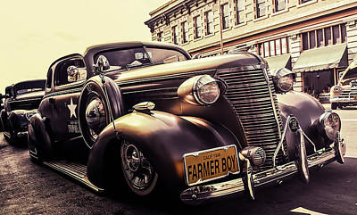 Police Cars Photograph - Vintage Police Car by Britten Adams