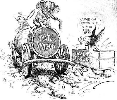 Drawing - Vintage Political Porhibitioncartoon by Vintage Pix