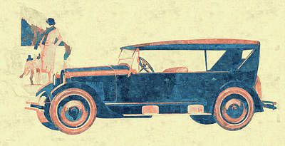 Digital Art - Vintage Pop No 4 1924 Reo Phaeton by David King