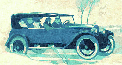 Digital Art - Vintage Pop No 6 1924 Willys Knight Touring by David King
