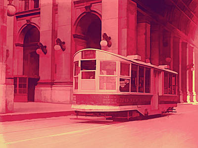 Digital Art - Vintage Pop No 7 New York Street Car by David King