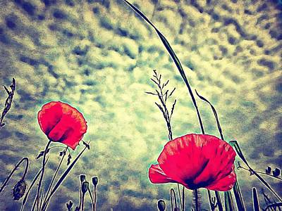 Digital Art - Vintage Poppies by Dorothy Berry-Lound