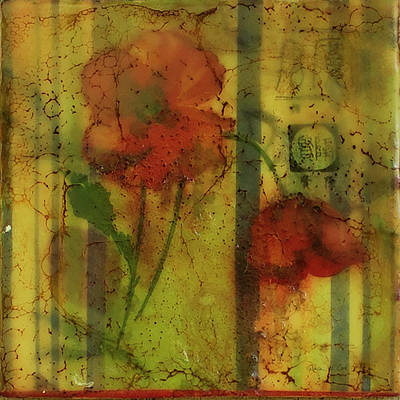 Painting - Vintage Poppy by Bellesouth Studio