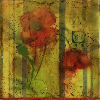 Painting - Vintage Poppy by Bellesouth Studio