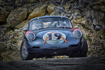 Photograph - Vintage Porsche Takes A Left... by Mike Martin